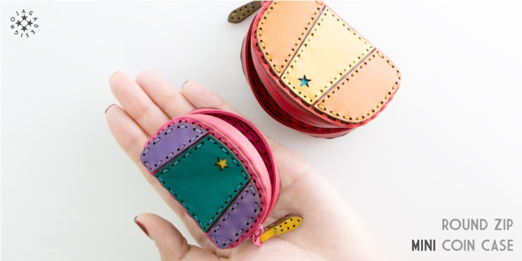 ROUND ZIP MINI COIN CASE