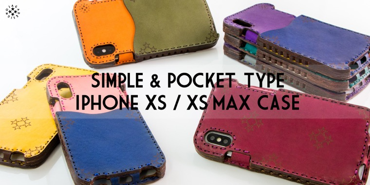 SIMPLE & POCKET TYPE IPHONE XS / XS MAX CASE