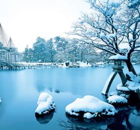 画像:石川県兼六園の庭園写真/11-12月 庭(フィルムカレンダー) 2017年版カレンダー