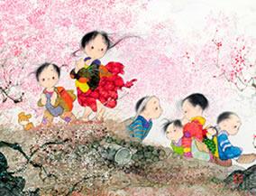 画像:1-2月 早春の香り 風の詩 中島潔作品集(フィルムカレンダー) 2017年版カレンダー