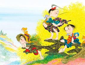 画像:3-4月 花色の夢 風の詩 中島潔作品集(フィルムカレンダー) 2017年版カレンダー