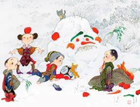 画像:11-12月 ベジタリアン 風の詩 中島潔作品集(フィルムカレンダー) 2017年版カレンダー