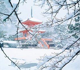 画像:京都府大覚寺の雪景色/2月 庭・四季詩情 2017年版カレンダー
