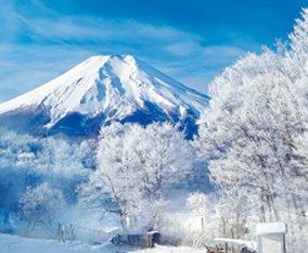 画像:山梨県から撮影した冬の富士山/1-2月 四季彩峰 2017年版カレンダー