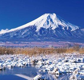 画像:1-2月 富士山(山梨) ワイドニッポン(フィルムカレンダー) 2017年版カレンダー