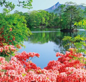 画像:5-6 大沼公園(北海道) ワイドニッポン(フィルムカレンダー) 2017年版カレンダー