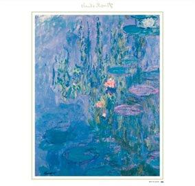 画像:モネ作品「睡蓮」/5-6月 モネ絵画集(フィルムカレンダー) 2017年版カレンダー