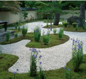 画像:8月 廬山寺(京都) 庭の詩情 2017年版カレンダー