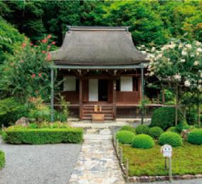 画像:9月 寂光院本堂(京都) 庭の詩情 2017年版カレンダー