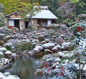 画像:12月 等持院(京都) 庭の詩情 2017年版カレンダー