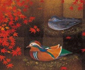 画像:鳥山玲 絵画作品「秋韻」/9-10月 鳥山玲作品集 2017年版カレンダー