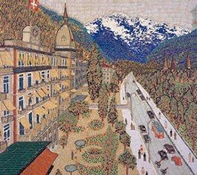 画像:山下清 作品「スイスの町」/11-12月 山下清作品集 2017年版カレンダー