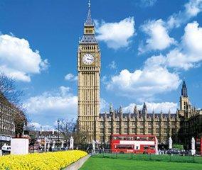画像:写真「イギリスのロンドンの時計塔 ビッグベン」/1-2月 世界の名勝(フィルムカレンダー・小) 2017年版カレンダー