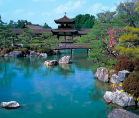 画像:1-2月 平安神宮(京都) 四季の庭 2018年カレンダー