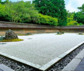 画像:5-6月 龍安寺(京都) 四季の庭 2018年カレンダー