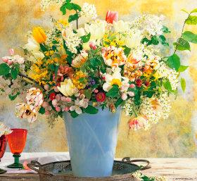 画像:3-4月 花の贈り物 2018年カレンダー