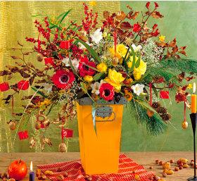 画像:11-12月 花の贈り物 2018年カレンダー