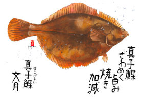 画像:7月 魚彩時記 2018年カレンダー