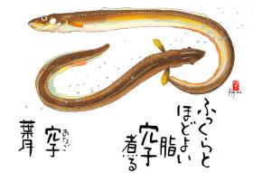 画像:8月 魚彩時記 2018年カレンダー