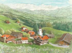 画像:5-6月 ヴァルツァイナ(スイス) ヨーロッパ散歩道 2018年カレンダー