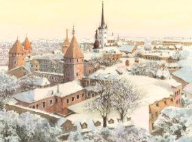 画像:11-12月 ダリン(エストニア) ヨーロッパ散歩道 2018年カレンダー