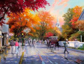 画像:9-10月 Autumn on Mackinac Isand トーマス・キンケード 2018年カレンダー