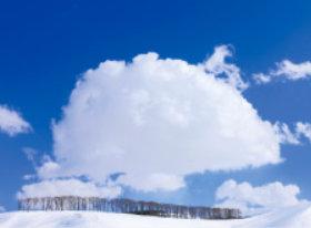 画像:2月 雪原と巨大わた雲 SORA -空- 2018年カレンダー