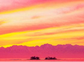 画像:6月 富山湾の朝焼け SORA -空- 2018年カレンダー