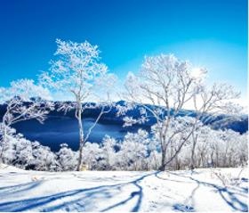 画像:2月 摩周湖(北海道) 日本の朝 2018年カレンダー