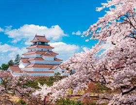画像:4月 若松城(福島) ザ・日本 2018年カレンダー