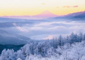 画像:1月 長野県 諏訪湖 フォーエバージャパン 2018年カレンダー