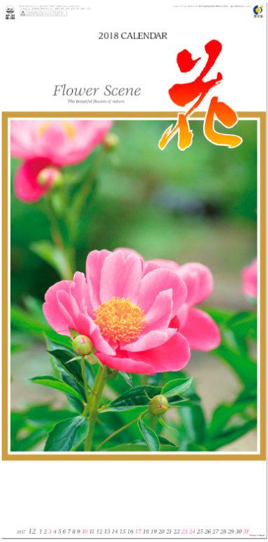 表紙 花 (Flower Scene) 2018年カレンダーの画像