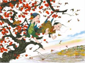 画像:11-12月 晩秋の音色 風の詩 中島潔作品集(フィルムカレンダー) 2018年カレンダー