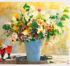 画像:3-4月 花の贈り物(フィルムカレンダー) 2018年カレンダー