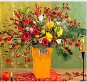 画像:11-12月 花の贈り物(フィルムカレンダー) 2018年カレンダー