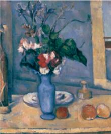 画像:9-10月 セザンヌ 「青い花瓶」 パリ・オルセー名作選(フィルムカレンダー) 2018年カレンダー