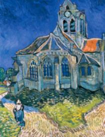 画像:11-12 ゴッホ 「オーヴェールの教会」 パリ・オルセー名作選(フィルムカレンダー) 2018年カレンダー