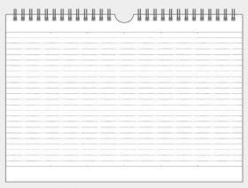 画像:裏面 壁掛け・卓上両用カレンダー 2018年カレンダー