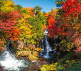 画像:9-10月 竜頭の滝(栃木) 日本六景 2018年カレンダー