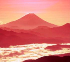 画像:1-2月 富士山(山梨) 四季六彩 2018年カレンダー