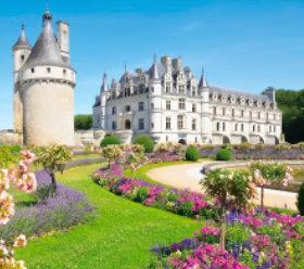 画像:1-2月 シュノンソー城(フランス) ヨーロッパの旅 2018年カレンダー
