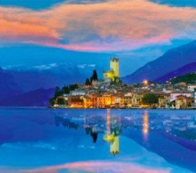 画像:5-6月 ガルダ湖(イタリア) ヨーロッパの旅 2018年カレンダー