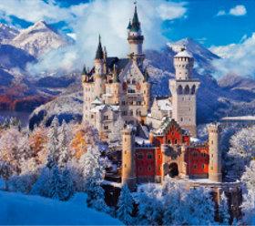 画像:11-12月 ノイシュヴァンシュタイン城(ドイツ) ヨーロッパの旅 2018年カレンダー