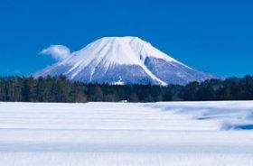 画像:1月 伯耆富士 大山(鳥取) ご当地富士 2018年カレンダー