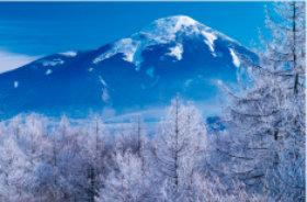 画像:2月 諏訪富士 蓼科山(長野) ご当地富士 2018年カレンダー