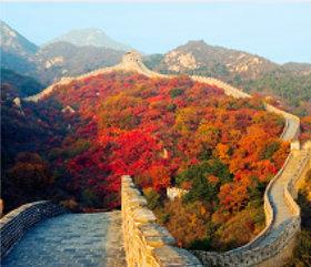 画像:11月 万里の長城(中国) 外国風景 2018年カレンダー