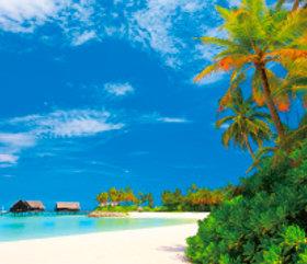 画像:7月 北マーレ環礁(モルディブ) 外国風景 2018年カレンダー