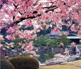 画像:4月 二条城 清流園(京都) 庭・四季詩情 2018年カレンダー