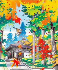 画像:10月 金色堂 川野隆司作品集 2018年カレンダー