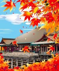 画像:11月 清水寺 川野隆司作品集 2018年カレンダー